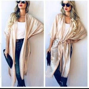 Jackets & Blazers - NEW Shimmery Metallic Kimono